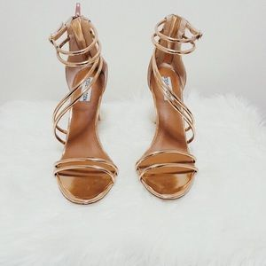 STEVE MADDEN ROSE GOLD SIZE 10 ... NEVER BEEN WORN
